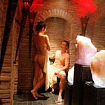 Saunalandschaft mit Dampfbad