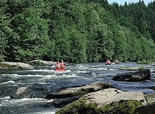 Kanu- und Kajakfahren in Bayrisch Kanada