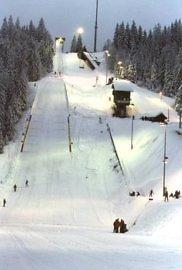 Skisprung im Bayerischen Wald